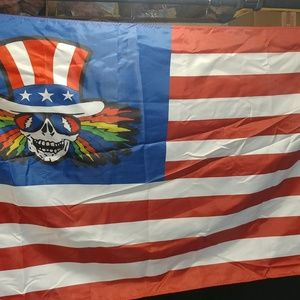 Pshyco Sam U. S. Blues Grateful Dead Flag